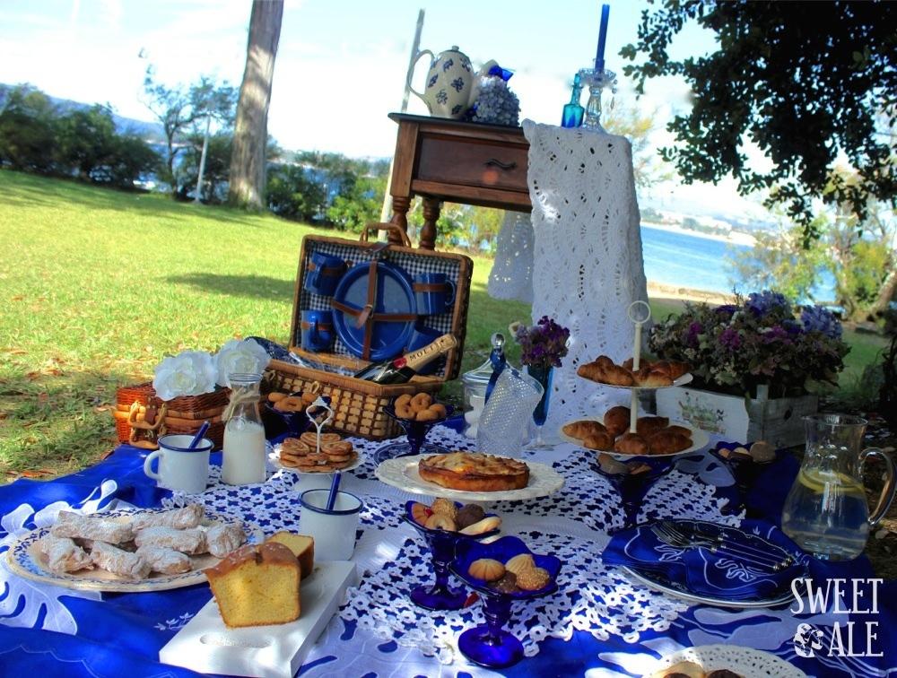 Vista picnic con fondo