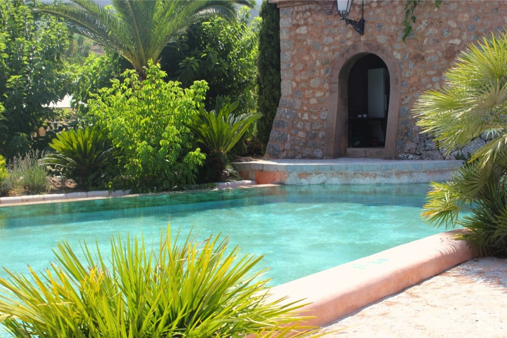 Vista piscina Finca Ca N'aí