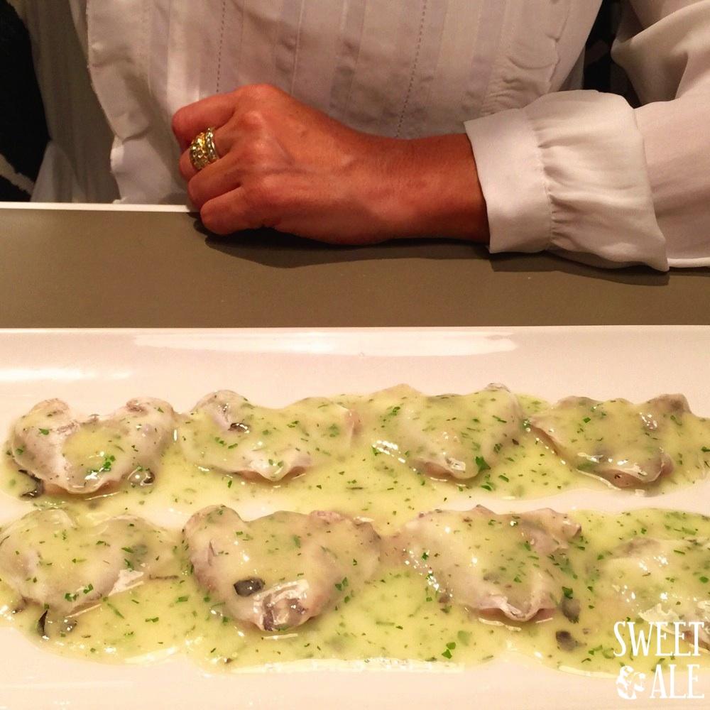 Cocohas de merluza confitadas en salsa verde
