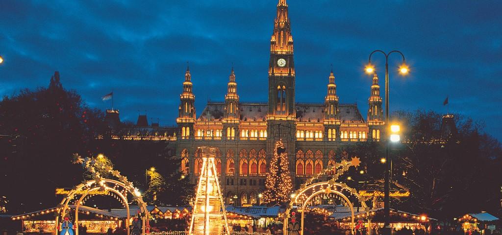 Mercado Navidad rathausplatz Viena