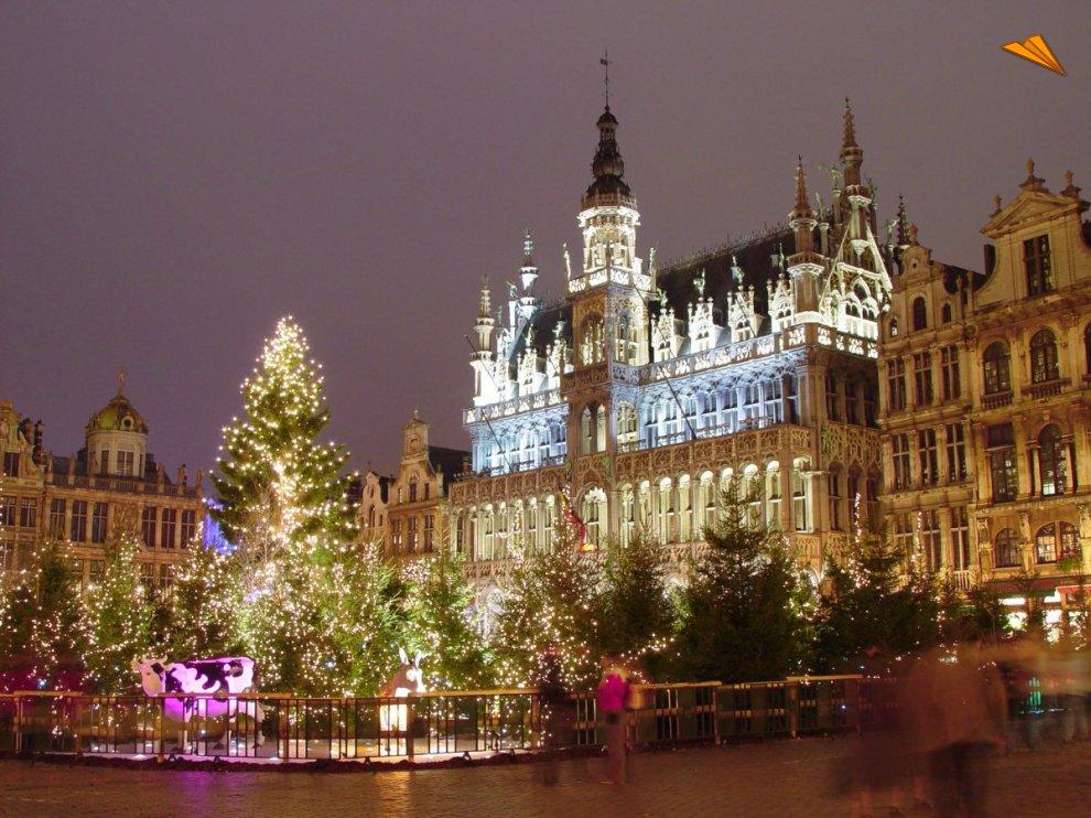 Mercado de Navidad de la Grand Place Bruselas