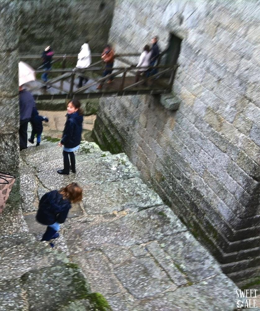andando por el castillo