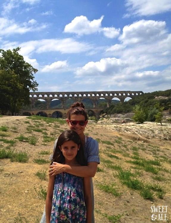 Ale & mama Pont du Gard