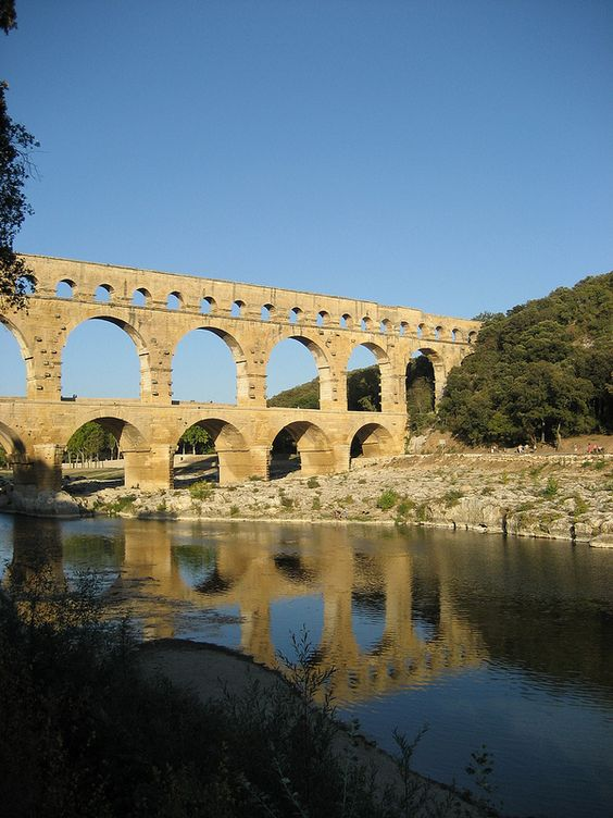 Pont du Gard via pinterest