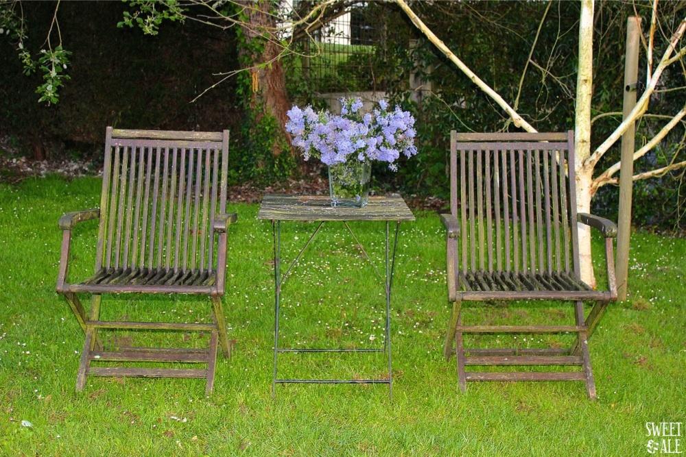 jardín sillas