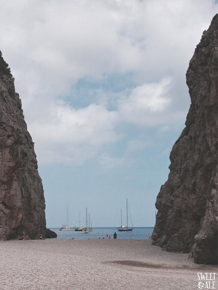 vista playa Sa Calobra