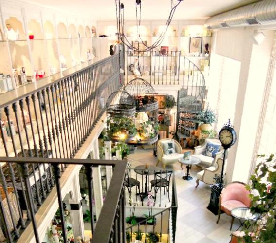 vista piso superior salon des fleurs