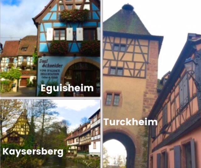 Eguisheim, Turkheim, Kaysersberg, pueblos pintorescos de Alsacia