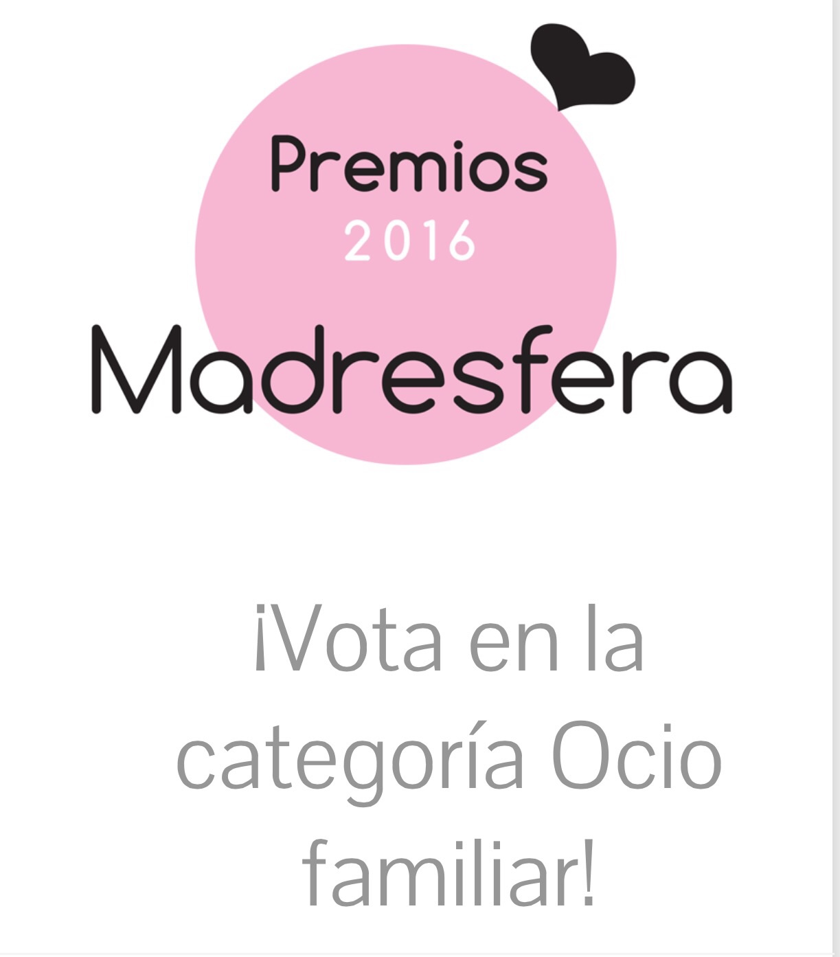 Sweet Ale nominado al mejor blog de Ocio Familiar – Premios Madresfera